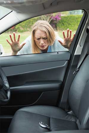 Woman locked out of her car